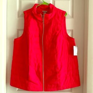 NWT-Catherine's Bright (orange/coral) Vest Size 1X